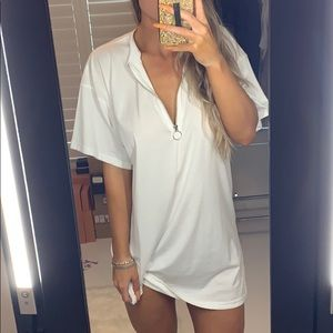 NWOT Missguided White T-Shirt Dress Size 6